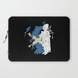 Scotland Flag Bagpiper Bagpipe Gift Motif Laptop Sleeve