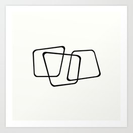 Simply Minimal - Black and white abstract Art Print