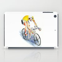 cafe racer iPad Cases featuring Racer by drawgood