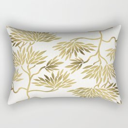 Bonsai Tree – Gold Palette Rectangular Pillow