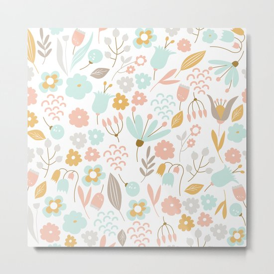 Cute flower pattern Metal Print
