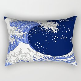 Great Blue Wave Rectangular Pillow
