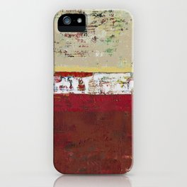 Buffalo Indian Red Burgundy Modern Abstract Art iPhone Case