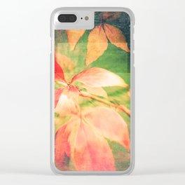 Autumn Colour Field Clear iPhone Case