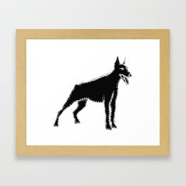 I have Connected the Doberman Pinscher Doggy Dots! Framed Art Print
