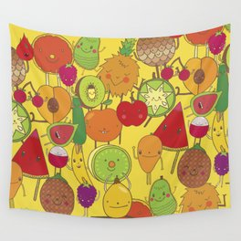 Veggies Fruits Wall Tapestry