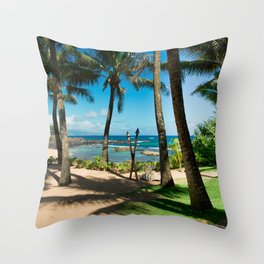 Kuau Beach Paia Maui North Shore Hawaii Throw Pillow
