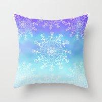 tye dye Throw Pillows featuring Tye dye and Lace by Ann Bridges