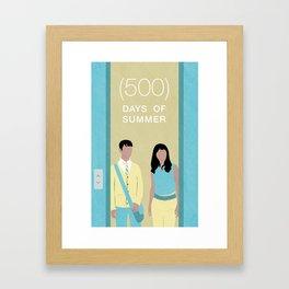 (500) Days of Summer Movie Poster Framed Art Print