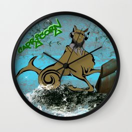 Capricorn Astrology Sign Wall Clock