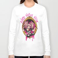 dangan ronpa Long Sleeve T-shirts featuring Blood Makes Noise by AMC Art