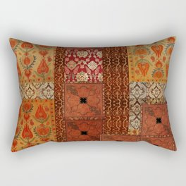 Vintage textile patches Rectangular Pillow