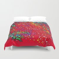 sparkle Duvet Covers featuring Sparkle  by Sammycrafts