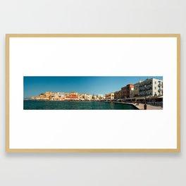 Chania Harbor Framed Art Print