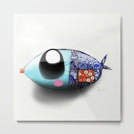 Blue Sardine Metal Print