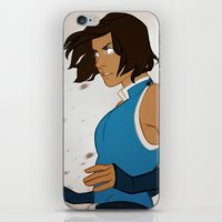 legend of korra iPhone & iPod Skins featuring Korra by MJ Erickson
