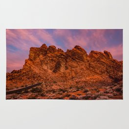 Sunrise Glow - Valley of Fire State Park Rug