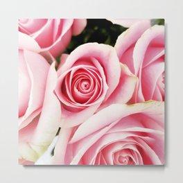 Pink Roses by J.Avery Design Metal Print