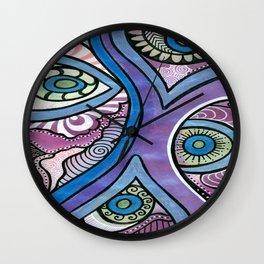 Tangle eyes Wall Clock