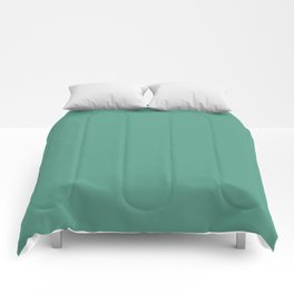 Mid-tone Summer Gemstone Green Solid Color Parable to Beach Grass 5008-8B by Valspar Comforters