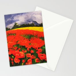 Poppies before the Storm Stationery Cards