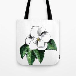 White magnolia Tote Bag