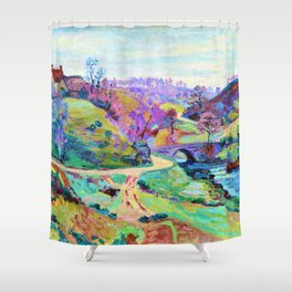 12,000pixel-500dpi - Armand Guillaumin - Crozania, a girl of fugue - Digital Remastered Edition Shower Curtain