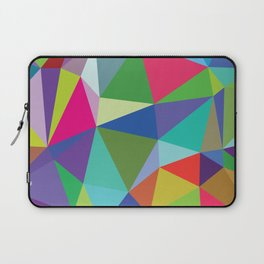 Abstract triangle mosaic background Laptop Sleeve