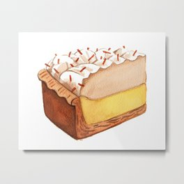 Coconut Cream Pie Slice Metal Print