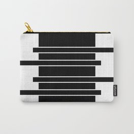 Lines | Black Minimal Carry-All Pouch