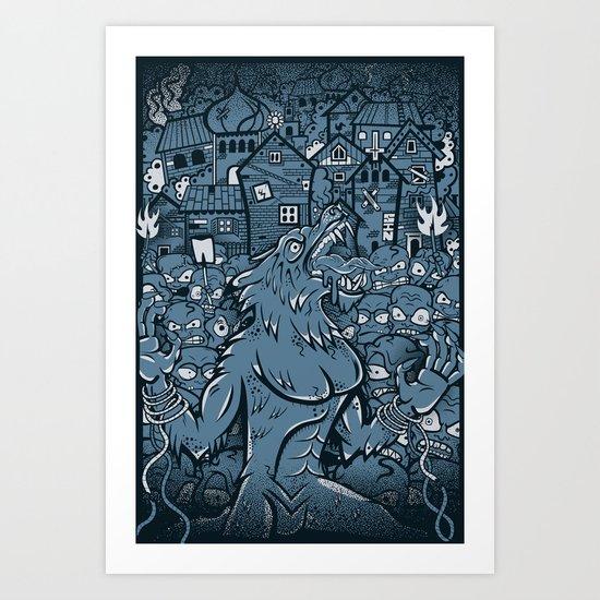 WOLVES OF PERIGORD Art Print