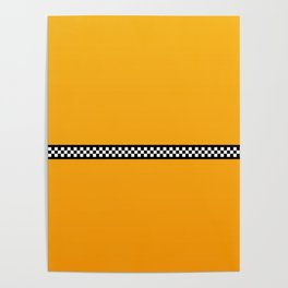 NY Taxi Cab Yellow with Black and White Check Band Poster