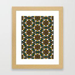 Persian Mosaic – Marigold Palette Framed Art Print