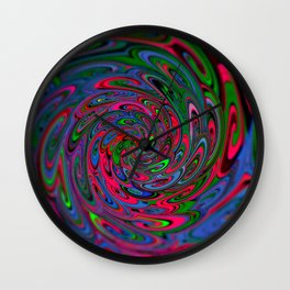 Trippy Swirl Wall Clock