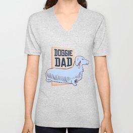 Dachshund Doggie Dad Unisex V-Neck