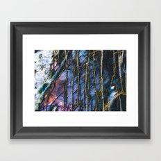 Snowy Forest Night Framed Art Print