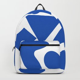 Blue shapes on white background 2 Backpack