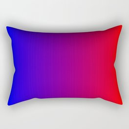 Red and Blue Ombre Rectangular Pillow