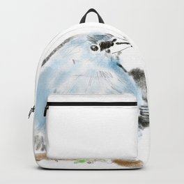Illustration of blue bird Backpack