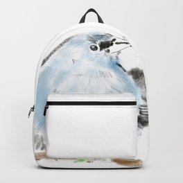 Illustration of blue bird Backpack