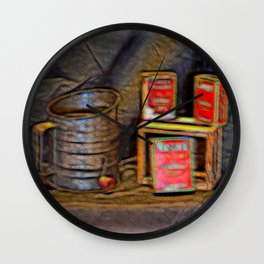 Country Spices Wall Clock