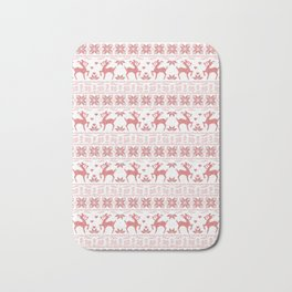 Christmas pattern. Cross-stitch Bath Mat