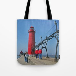 Lighthouse Walk Tote Bag