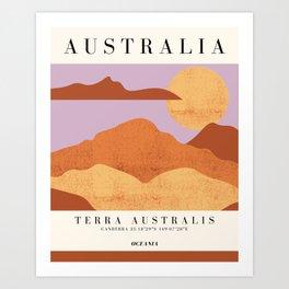 Australia Exhibition Art Print
