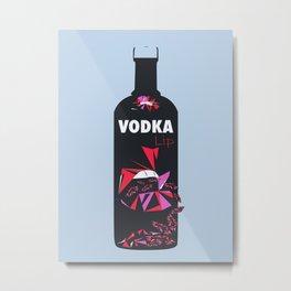 Vodka Lip – Blue Steel Metal Print
