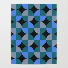NeonBlu Squares Poster