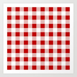 Red and White Check Art Print