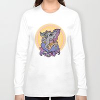 hindu Long Sleeve T-shirts featuring Hindu God Ganesha. Hand drawn illustration. by Katyau