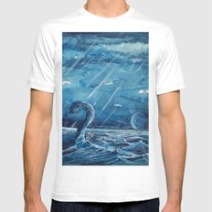 A stone monster almost catched ... White Mens Fitted Tee MEDIUM