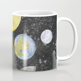 Watercolor Planets Coffee Mug